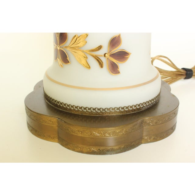 Bavarian Bristol Gold Gilded Table Lamp For Sale - Image 5 of 7