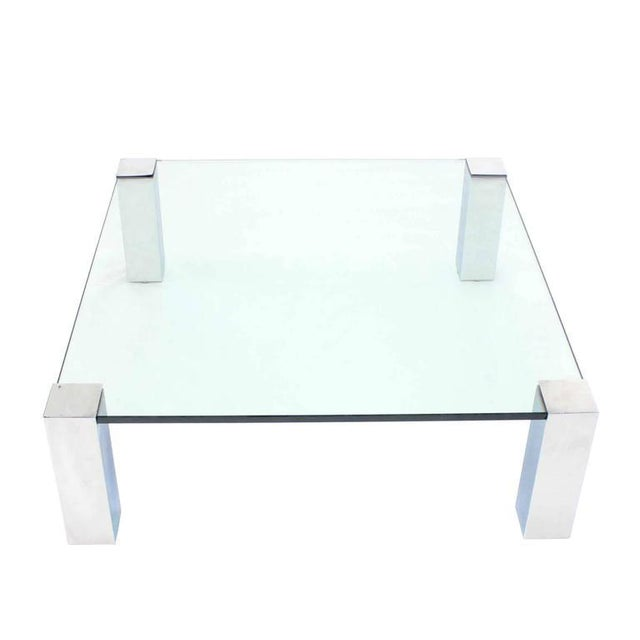 Large Square Mid-Century Modern Coffee Table For Sale - Image 4 of 7