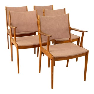 Johannes Andersen Mid Century Teak Dining Chairs - Set of 5 For Sale