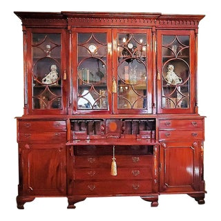 18c Irish Georgian Secretary Bookcase For Sale