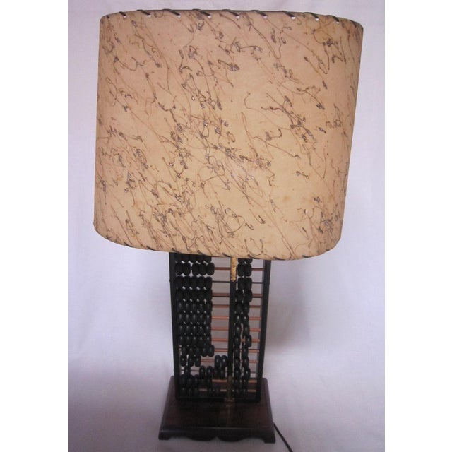 Asian Abacus Table Lamp For Sale - Image 3 of 6