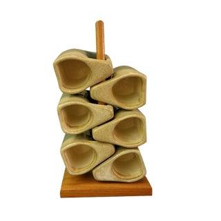 20th Century Abstract Mexican Padilla Coffee Espresso Mugs - Set of 6