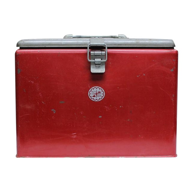 Vintage Industrial Icy Hot Cooler - Image 1 of 4