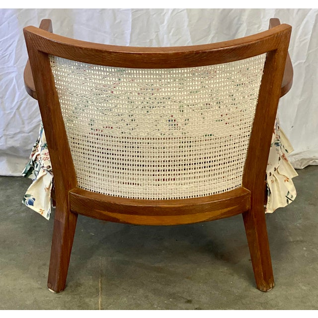 Mid 20th Century Mid Century Modern Walnut Caned Birdseye Chair For Sale - Image 5 of 9