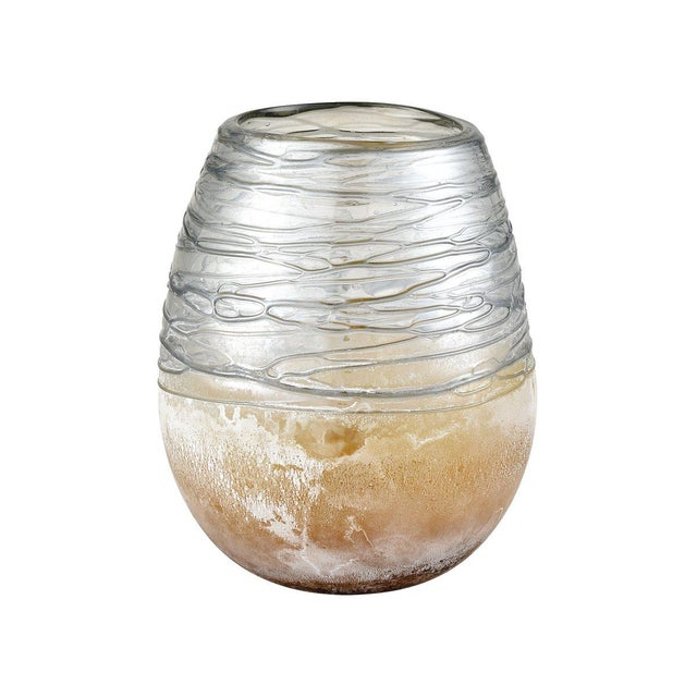 2020s Kenneth Ludwig Chicago Jenni Blown Glass Cylinder/Hurricane For Sale - Image 5 of 5