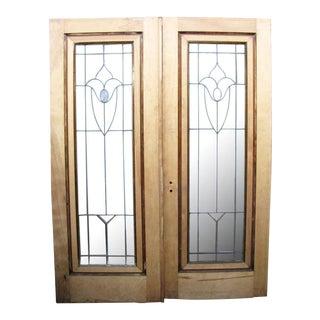 Leaded Glass Doors - a Pair