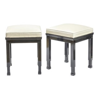 Jean Charles Moreux Style Pair of Neo Classic Stools. For Sale