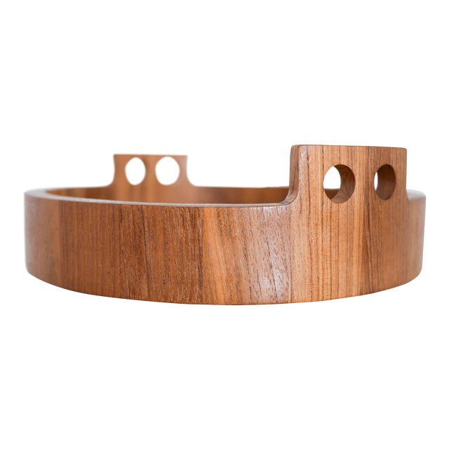 Danish Modern Teak Serving Tray by Birgit Krogh for Woodline - Image 1 of 6