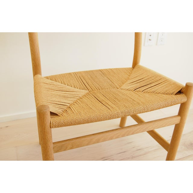 1965 Hans Wegner for Carl Hansen & Son Oak Dining Armchairs - Set of 6 For Sale - Image 10 of 13