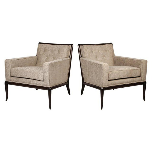 Mid-Century Modern Pair of Classic Lounge Chairs by t.h. Robsjohn-Gibbings For Sale - Image 3 of 9