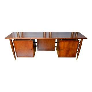 1950s Mid Century Modern Tanker Desk For Sale