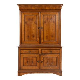 Late 19th Century Louis Philippe Fruitwood Tall Cupboard For Sale