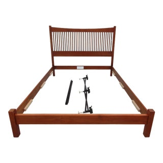 Stickley Walnut Spindle Queen Sized Bed For Sale
