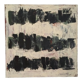 Carolanna Parlato After Melancholia Black and Beige Painting 2016 For Sale