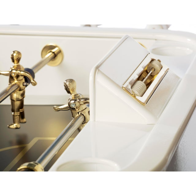 Contemporary RS Barcelona Gold Foosball Table, White For Sale - Image 3 of 5