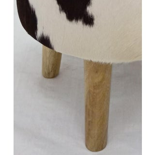 Wooden Leg Cowhide Stool Preview