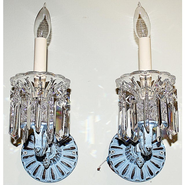 Regency-Style Painted Sconces - Set of 4 For Sale In West Palm - Image 6 of 9