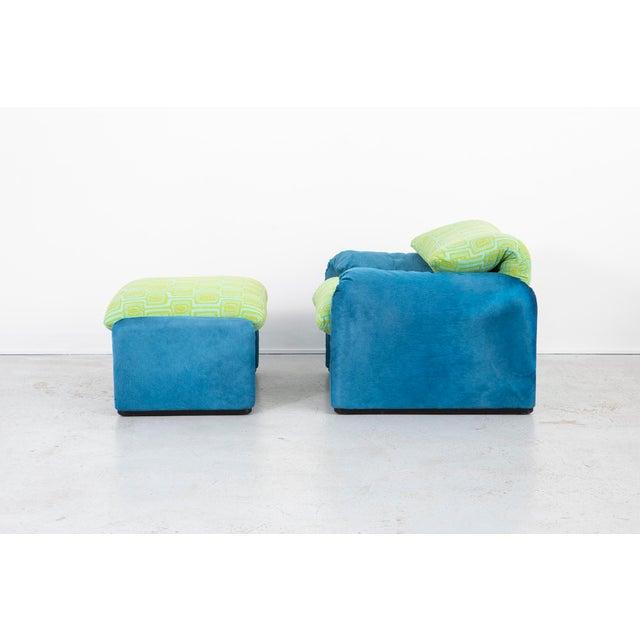 Contemporary Vico Magistretti Maralunga Chair + Ottoman For Sale - Image 3 of 11