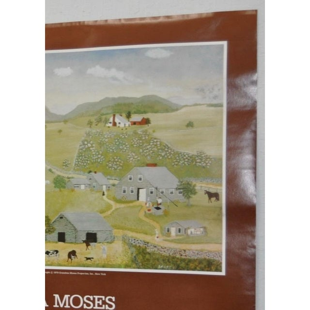 """Realism Vintage """"Grandma Moses"""" Exhibition Poster National Gallery of Art, Washington, DC 1979 For Sale - Image 3 of 8"""