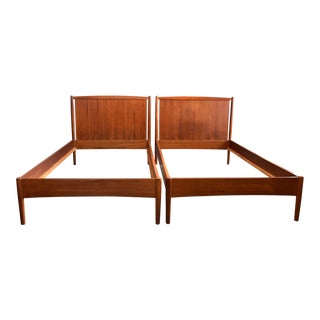 Fine Danish Teak Beds by Povl Dinesen - 2 Available For Sale