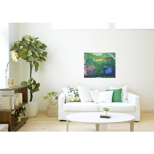 "Stephen Remick Abstract Painting, Garden Party Painting - 24"" X 30"" - Image 2 of 9"