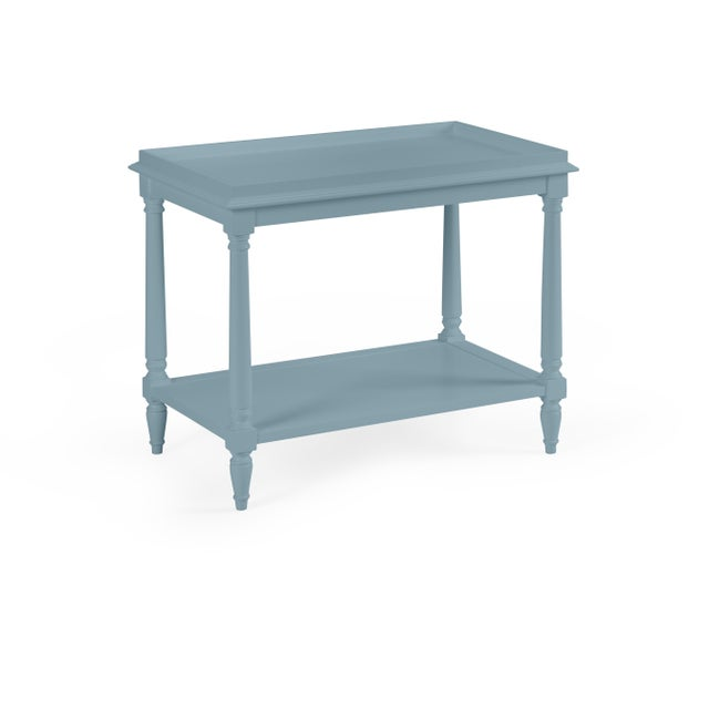 Transitional Casa Cosima Revere Side Table, Chiswell Blue For Sale - Image 3 of 3