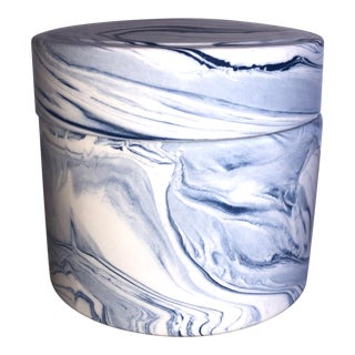 Tozai Home Terre Melee Blue Covered Jar For Sale