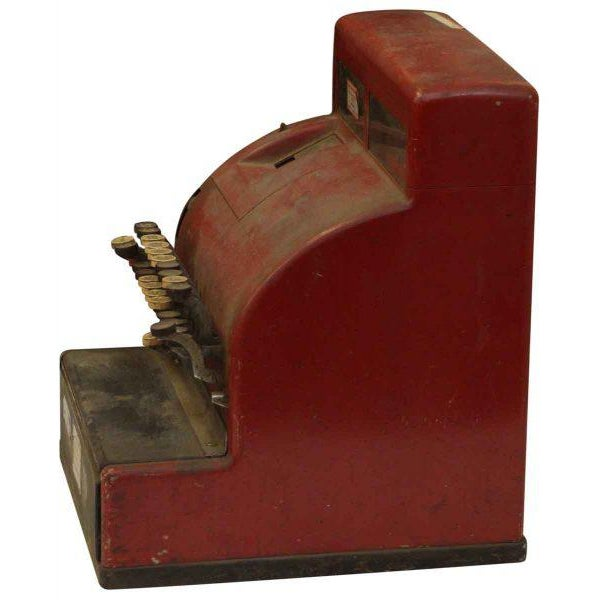 Red NCR Cash Register For Sale - Image 5 of 8