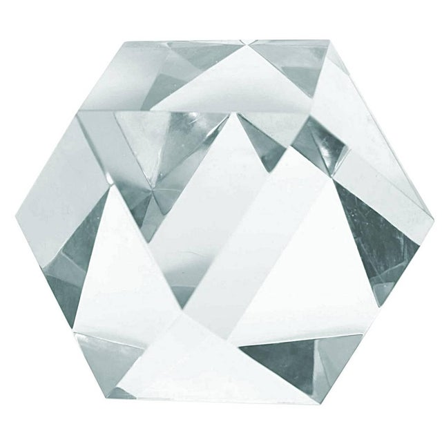 Large Faceted Lucite Sculpture by Amparo Calderon Tapia For Sale In Los Angeles - Image 6 of 6