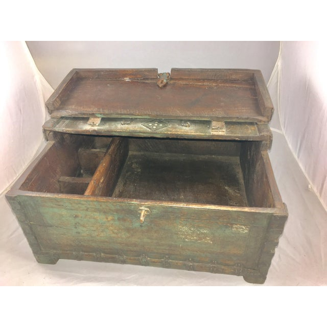 Brown 19 Century Oriental Cashbox For Sale - Image 8 of 10
