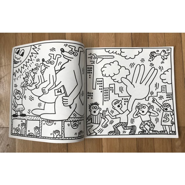 1980s 1985 Vintage Keith Haring Coloring Book For Sale - Image 5 of 9