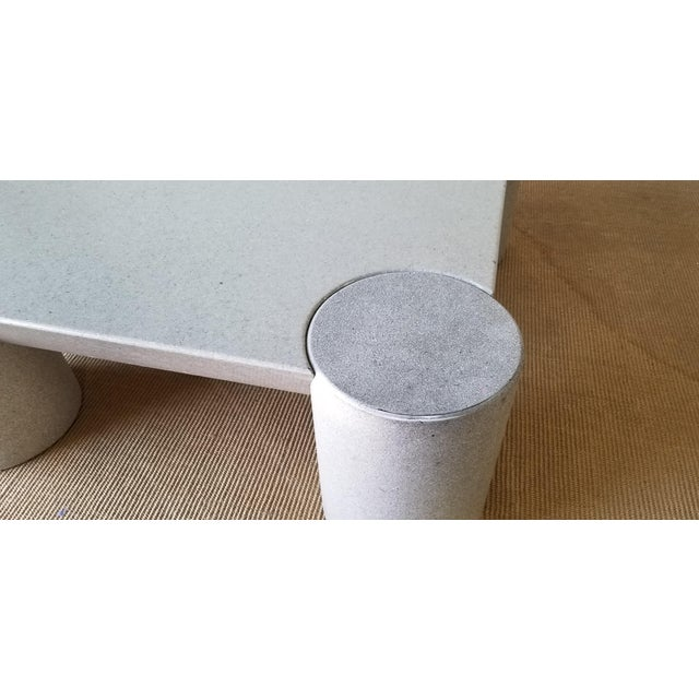 1980s Karl Springer Style Italian Postmodern Coffee Table For Sale In Miami - Image 6 of 10