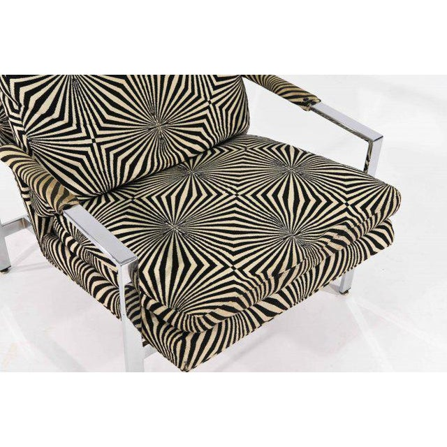 Milo Baughman for Thayer Coggin Lounge Chair with Verner Panton Fabric For Sale - Image 9 of 9