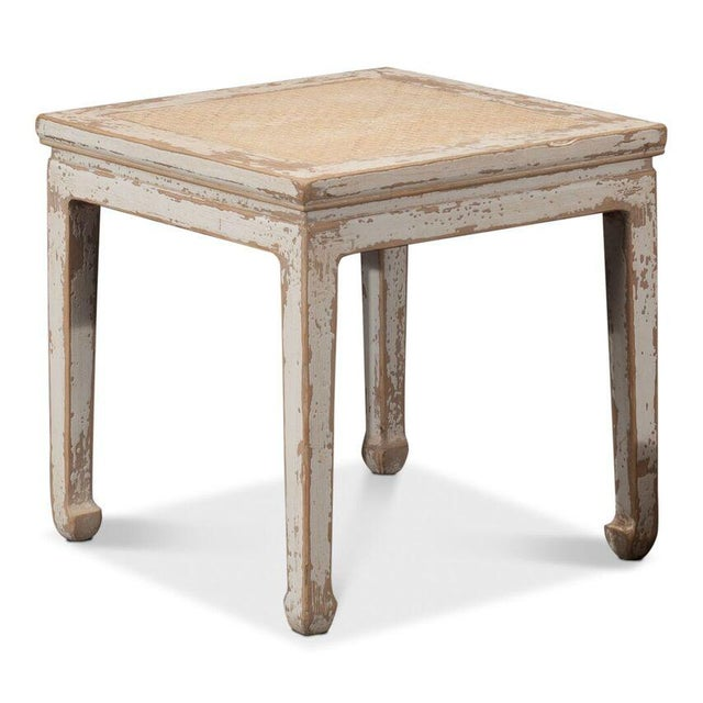 Sarreid Ltd Square Rattan Stool - Image 4 of 6