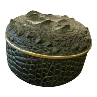Vintage Crocodile Style Box For Sale
