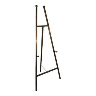 Italian Patinated Brass Art Easel For Sale