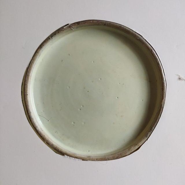 Chinese Rose Mandarin Pattern Porcelain Charger, Framed For Sale - Image 4 of 11