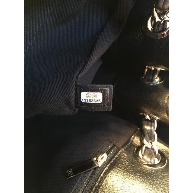 Canvas Chanel Black Leather Mini Duffle Shoulder Bag For Sale - Image 7 of 12