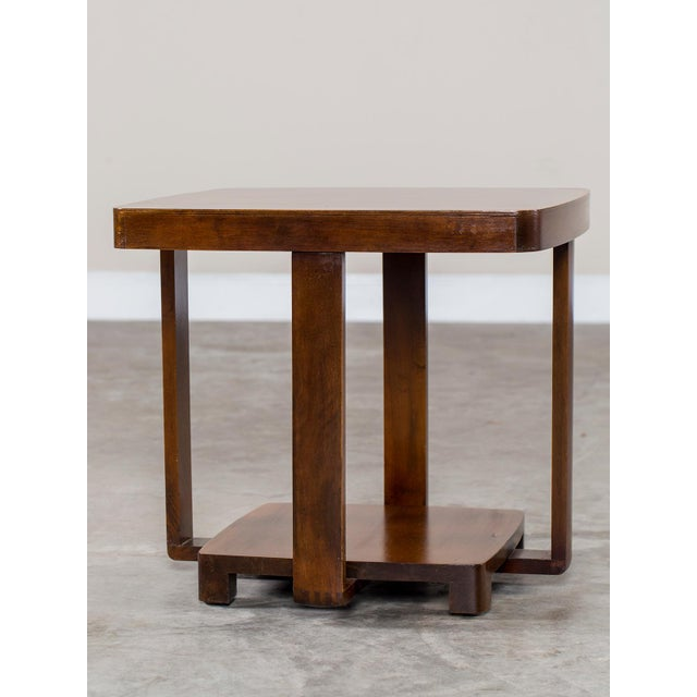 Art Deco Vintage French Walnut Table circa 1930 For Sale - Image 9 of 9