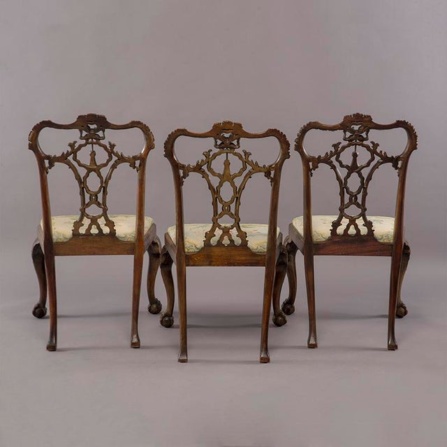 Set 8 19th C Hand Carved Chippendale Tassel Back Dining Chairs For Sale In Detroit - Image 6 of 13