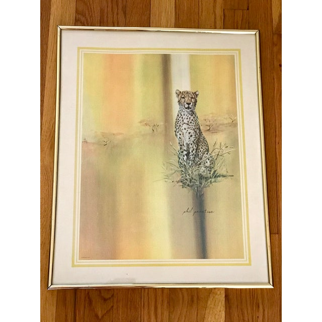 Drawing/Sketching Materials Midcentury 1970s Leopard Cheetah Wall Art For Sale - Image 7 of 7