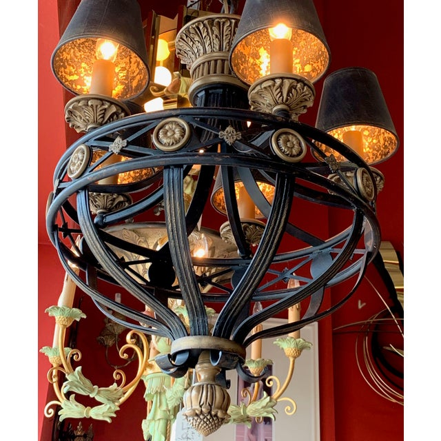 Fine Art Lighting Chandelier Bronze & Gold 5 Lights For Sale In Tampa - Image 6 of 13