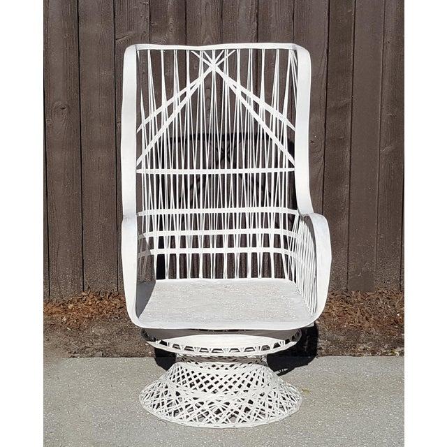Mid 20th Century Russell Woodard Fiberglass Spun Swivel Rocking Chair For Sale - Image 5 of 5