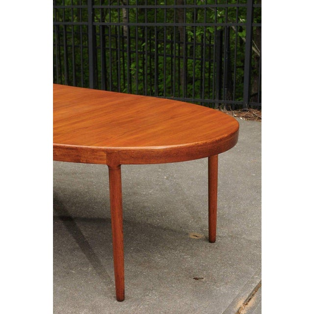 Brown Magnificent Teak Extension Dining Table by Harry Ostergaard, Circa 1963 For Sale - Image 8 of 11