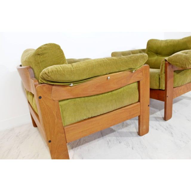 1960s Pair of 1960s Mid-Century Modern N. Eilersen Danish Lounge Chairs For Sale - Image 5 of 12