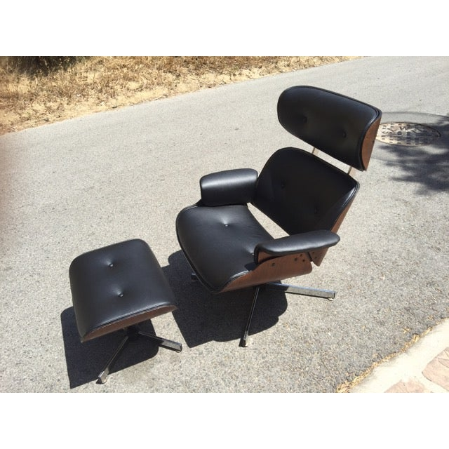 Fully Restored Plycraft Eames Lounge With Ottoman - Image 2 of 9