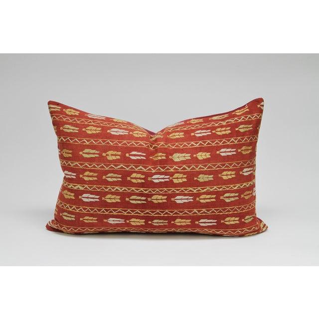Tribal Bagh Phulkari Lumbar Pillow - Image 3 of 3