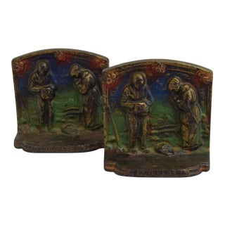 1920's Cast Iron Angelus Bookends - a Pair For Sale