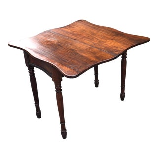 Traditional Mahogany Fold Over Tea/Card Table For Sale