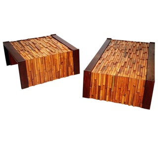 Percival Lafer Exotic Woods Coffee Tables for l'Atelier De Sao Paulo, Brazil For Sale